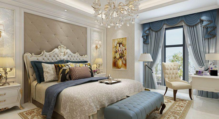本设计中,相对比拥有浓厚欧洲风味的欧式装修风格,简欧更为清新、也更符合中国人内敛的审美观念,室内设计打破以往欧式深沉的色彩,融入现代设计中浑然一体家居风格,白色调时尚温馨不突兀。地面的菱形铺贴方式、波打线以及墙面壁纸的搭配,把简欧风格的时尚体现的淋漓尽致。时尚的沙发与装饰品的摆放,让整个客厅营造出时尚、高贵、轻松、愉悦的视觉感空间,没有任何的花哨装饰,地窗上有轻柔的纱幔,将那凡世的喧嚣抵挡在外,给人的感觉是那样的宁静动人,也让客厅增添了大气感,营造出一个朴实之中的时尚简欧家居设计。