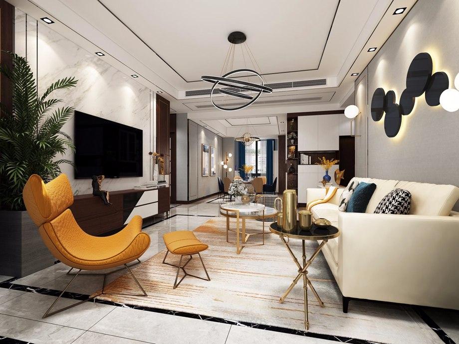 现代简约风格客厅装饰特点与家具搭配