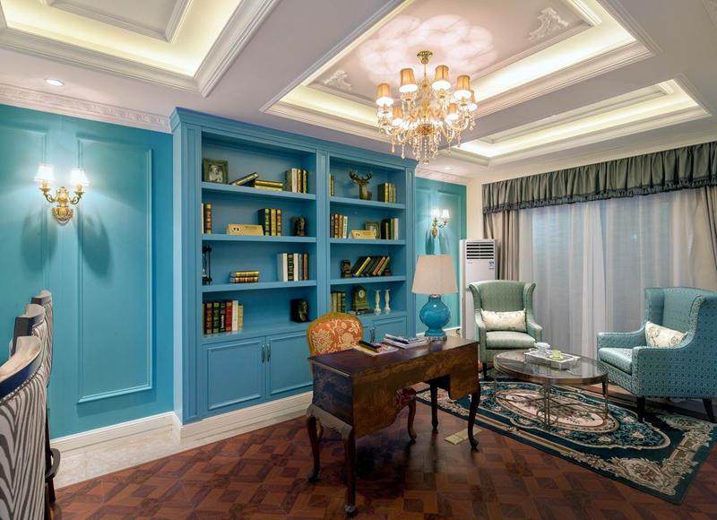 小书房装修设计技巧  1,隔音最重要      通常来说,这类居室是有房间